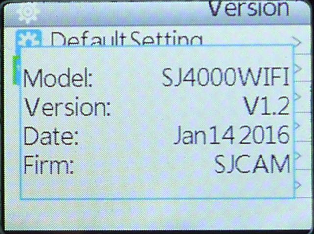 sjcam-4000  ファームウェア